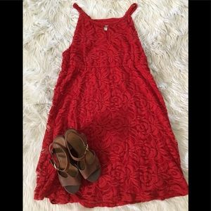 Key Hole High Neck Lace Dress 💃🏻